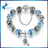 Popular Blue European Glass Beads Charms Bracelets