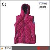 Fashionable Sleeveless Womens Winter Vest with Hood