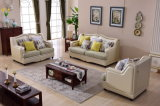 Contemporary Furniture Modern Leather and Cloth Couch Sofa Design 8025