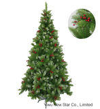 PVC Green Christmas Tree with Berry for Holiday Decoration