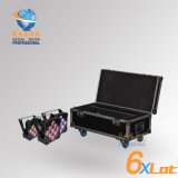 6in1 Charging Road Case for V9 6in1 Rgbaw UV Battery Powered Wireless LED Flat PAR Light Slim PAR Can for Event Party