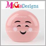 Wholesale Colorful Emoji Ceramic Piggy Bank Coin Box