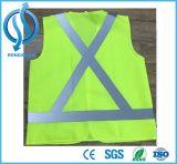 Custom Design LED Flashing Light Reflective Vest for Traffic Safety