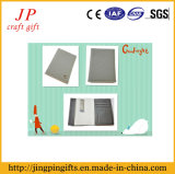 The Gray Leather Business Card Holder with Multilayer