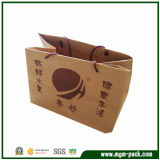 High Quality Durable Brown Paper Gift Handbag for Packing
