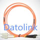 Fiber Patch Cord SC/PC-ST/PC mm Duplex LSZH 3.0mm