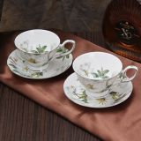 Beautiful Ceramic Coffee Cup and Saucer Porcelain Espresso Cup Bone China Cup