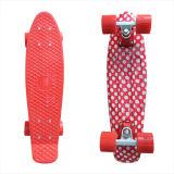 22inch PP Mini Skateboard Cruiser Complete Skateboards Banana Skateboard Red DOT Design-22