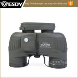 Tactical 10X50 Navy Binocular with Rangefinder and Compass Reticle Illuminant Hot