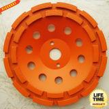 Segment Double Row Cup Grinding Wheel for Concrete, Masonry, Stone,