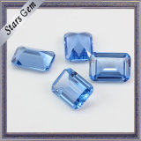 High Quality Light Blue Oatagon Emerald Cut Sapphire for Jewelry