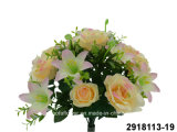 Artificial/Plastic/Silk Flower Rose/Lily Mixed Bush (2918113-19)