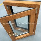 North American Aluminum Cladding Oak Wood Tilt Turn Window