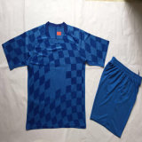 2016/2017 Season Croatia Blue Football Uniforms