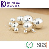 Solid Silver Plated Metal Round Bead for Jewelry Making