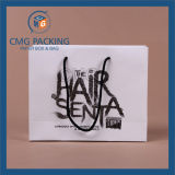 High Quality Black Printing White Paper Bag (CMG-MAY-028)