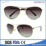 Classic Retro Metal Sunglasses Silver Frame