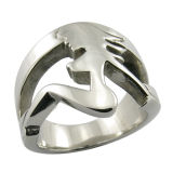 Split Metal Men Finger Ring