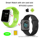 Mtk2502 System Bluetooth 4.0 Smart Watch Phone with SIM Card Slot (DM09)