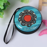 Fashionable Zipper Lock Round Souvenir Coin Purse