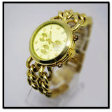 Hanglee-1530 Hot Sell Top Gold Alloy Watch