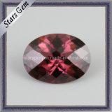 Hot Sale Oval Rhodorite Color Synthetic Cubic Zirconia CZ Stone