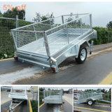 Galvanized 8X4 Single Axle Tilt Cargo Trailer with Cage