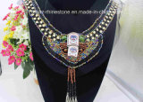 Factory Wholesale Custom Size V Neck Rhinestone Appliques (TA-002)