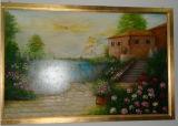 Golden Big Painting Landscape Decorative Frame