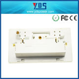 13A 2 Gang Wall Switched Socket 4.8A USB Outlet