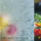 3mm-12mm Decorated Tempered Acid Etched Glass Frosted Glass Sticker with Ce ISO CCC
