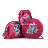 Polyester Cosmetic Bag with Embroidery (One set) / Fashion Bag (KCC09)