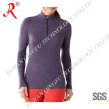 Women′s Sun Protection Dri Fit Shirt with High Quality (QF-1833)