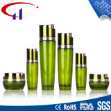 Green Color Popular Glass Cosmetics Lotion Bottle (CHR8100)