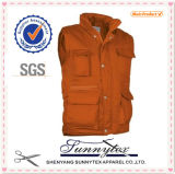 Fluor Polor Padded Pocket Workwear Mens Vest