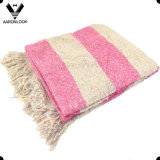 2016 Multicolor Mixed Loop Yarn Throw Blanket with Fringes