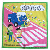 Factory OEM Produce Promotional Custom Logo Printed Cotton Square Big Handkerchief Bandana
