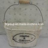 Oval Handmade Handled Customized Wooden Garden Barrel