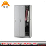 High Quality Cheap Lockable Metal Clothes Storage Cabinet for Office Iron 3 Door Steel Wardrobe Locker