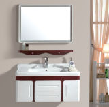 PVC Wall Mounted Vanity with Mirror (Ivory Color)