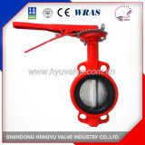 Backseated Type Industrial Butterfly Valve with Mellable Iron Handle