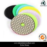 "3"", 4"", 5"", 7"" Velcro Diamond Flexible Resin Dry Polishing Pads"