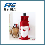 Christmas Red Wine Gift Bag with Drawstring