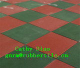 Supply Gym Sports Recycle Rubber Floor Tile, Outdoor Playground Rubber Tile/Interlocking Rubber Floor Mat/Colorful Rubber Tiles