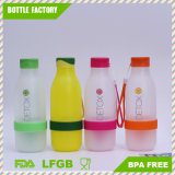 Detox Plastic Water Bottle with Handle Daily Use Fitness Bottle