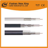 Best Price 90% Braiding RG6 Coaxial Cable with Steel Messenger 18AWG CCS