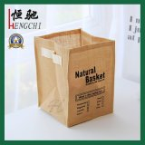 Household Jute Hessian Linen Storage Laundry Hamper with Printing