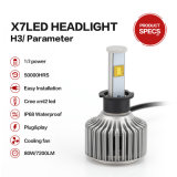 H3 6000k 40W CREE 3600lumens LED Headlight Bulbs for Cars