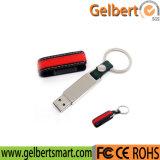 New 4GB-32GB Leather Keychain USB 2.0 Flash Memory Stick