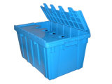 Plastic Container with Lid Attached (PK6040)